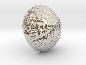 Large Urchin Pendant in Rhodium Plated Brass