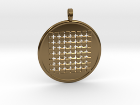 SIXTY-FOUR GRID GROUND in Polished Bronze