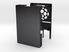 Raspberry Pi 2 / B+ Case in Polished and Bronzed Black Steel