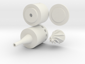 Solar Water Pump in White Natural Versatile Plastic