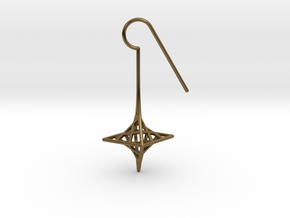 star_quad (small) in Polished Bronze