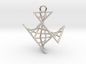crux_pendant (small) in Platinum