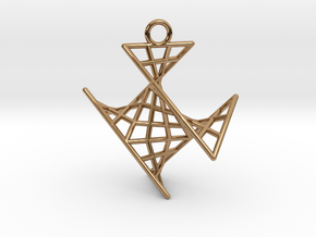crux_pendant (small) in Polished Brass