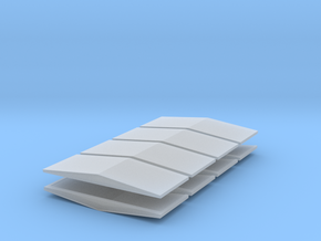 #5a V2 Ballast Car End Roofs in Smoothest Fine Detail Plastic