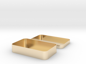 Parametric Rounded Box in 14k Gold Plated Brass