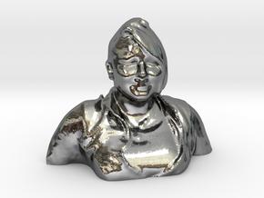 HUGE PRISCILLA HEAD in Fine Detail Polished Silver