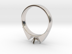 Alessa Design Ring For Diamond Ø17.83mm (Ø6mm New  in Rhodium Plated Brass