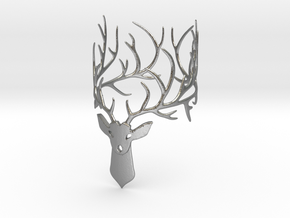 Stag bracelet Size: XS in Natural Silver