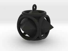 Diamond-Pendant in Black Natural Versatile Plastic