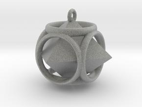 Diamond-Pendant in Metallic Plastic
