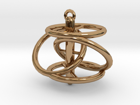 Dohickey Pendant in Polished Brass