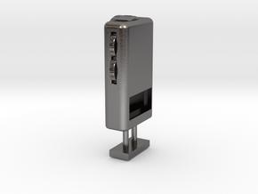 1/6 Scale Pocket Radio in Polished Nickel Steel