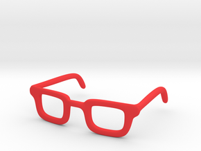 Eye Glasses Frame Rectangle: FOR MSD BJD doll size in Red Processed Versatile Plastic