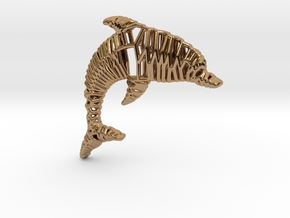 Dolphin Pendant in Polished Brass