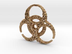 BioHazard Pendant in Polished Brass
