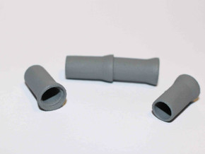 N Scale Sewer Pipes 1000mm 8pc in White Processed Versatile Plastic