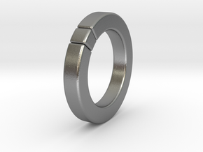 Caleb - Cubeamond Ring in Natural Silver: 6.75 / 53.375