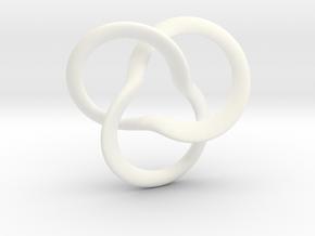 clover Knot in White Processed Versatile Plastic