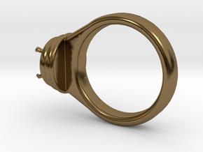 Alessa Design Ring Ø17.83mm  Ø8 Mm Diamond Fit in Polished Bronze