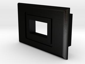 Switch Bezel - Mini Slide Switch in Matte Black Steel