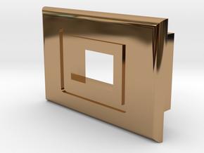 Switch Bezel - Mini Slide Switch in Polished Brass