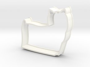 Long-haired Yorkie Cookie Cutter in White Strong & Flexible Polished