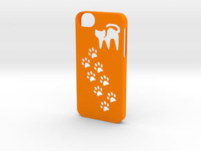 Iphone 5/5s cat paws case in Orange Processed Versatile Plastic
