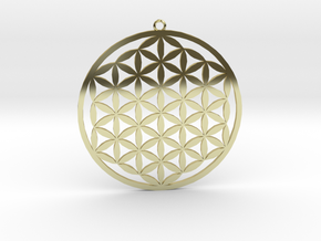 Flower Of Life Pendant in 18k Gold Plated Brass