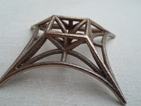 X^Square in Polished Bronzed Silver Steel