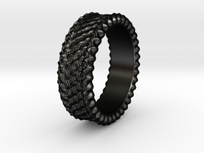 Elisa - Ring - US 6¾ - 17.12mm in Matte Black Steel