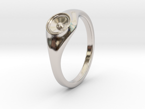 Liza - Ring - US 6¾ - 17.12mm in Rhodium Plated Brass: 6.75 / 53.375