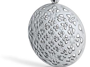 PA Medalion V2fSE566D36h4 in Fine Detail Polished Silver