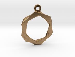 High Class Hexagon Pendant in Natural Brass