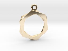 High Class Hexagon Pendant in 14K Yellow Gold