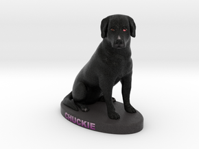 Custom Dog Figurine - Chuckie in Full Color Sandstone