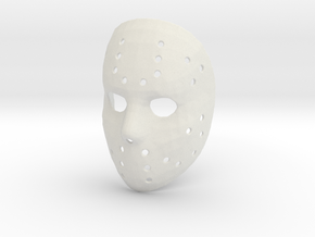 Jason Voorhees Mask in White Natural Versatile Plastic