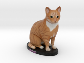 Custom Cat Figurine - Garfield in Full Color Sandstone