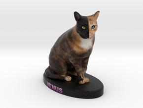 Custom Cat Figurine - Venus in Full Color Sandstone