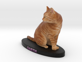 Custom Cat Figurine - Garth in Full Color Sandstone