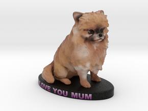 Custom Dog Figurine - Sophie in Full Color Sandstone
