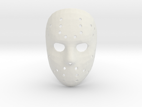 Jason Voorhees Mask (Small) in White Natural Versatile Plastic
