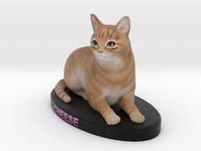 Custom Cat Figurine - Cheese in Full Color Sandstone