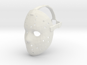 Jason Voorhees Mask W/ Strap in White Natural Versatile Plastic