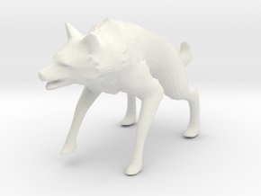 Wolf Pop Art Figurine in White Natural Versatile Plastic: 28mm