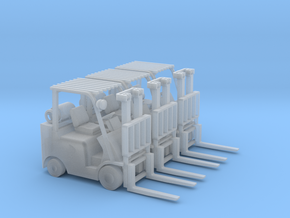 Mitsubishi FGC30N Forklift (HO - 1:87) 3X in Smooth Fine Detail Plastic