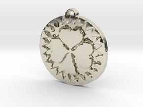 Heart Shamrock in 14k White Gold