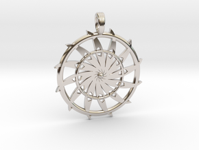 GALACTIC WHEEL in Rhodium Plated