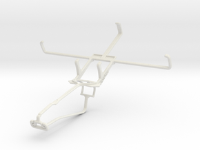 Controller mount for Xbox One Chat & PS Vita Slim  in White Natural Versatile Plastic
