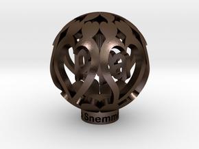 Youralwaysinmyhart Papa Staand 3cm Model in Polished Bronze Steel