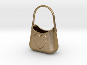 Bag Of Love in Polished Gold Steel